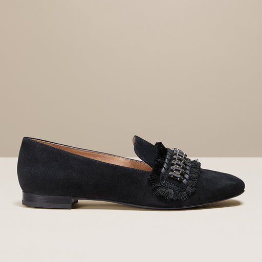 Beatrix Jeweled Suede Loafer-FLATS-Jack Rogers USA
