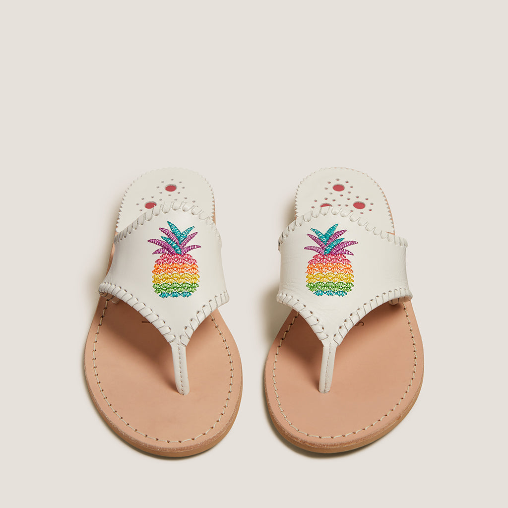 Embroidered Pineapple Sandal-SANDALS-Jack Rogers USA