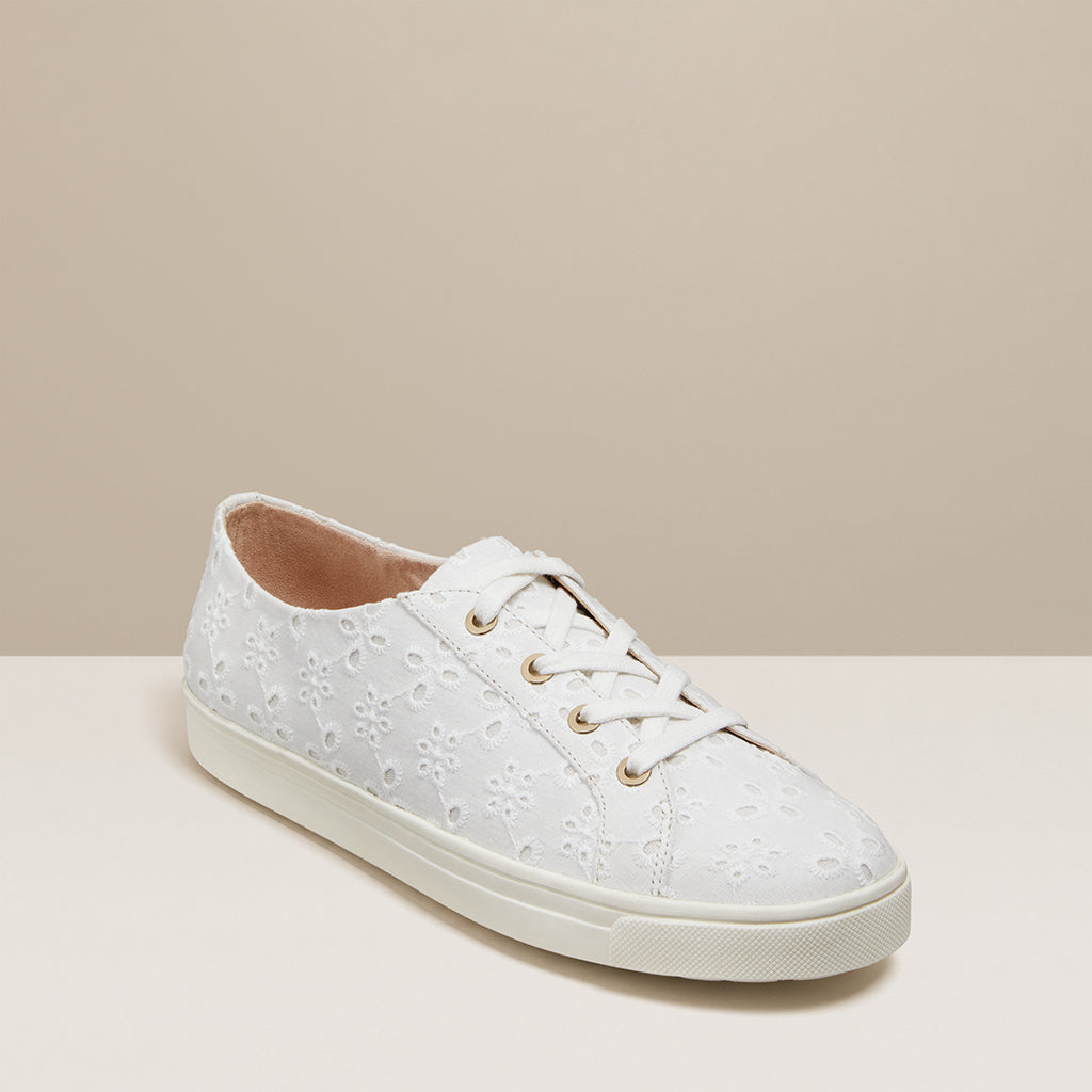 Lace Up Eyelet Sneaker