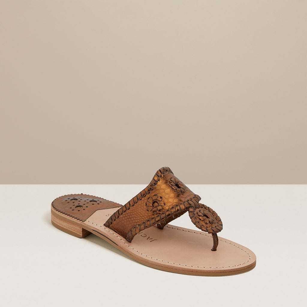 Jacks Snake Embossed Sandal