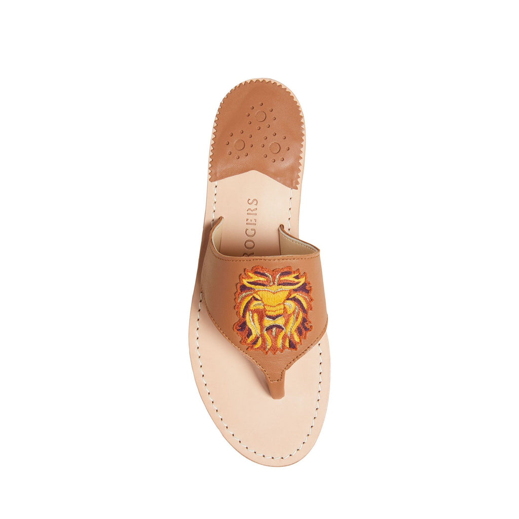 Leo Embroidered Sandal