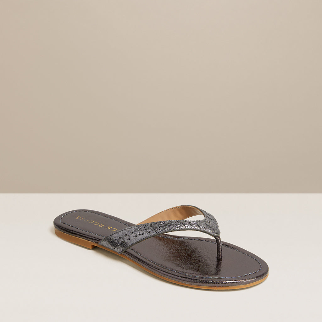 Metallic Collins Flip Flop