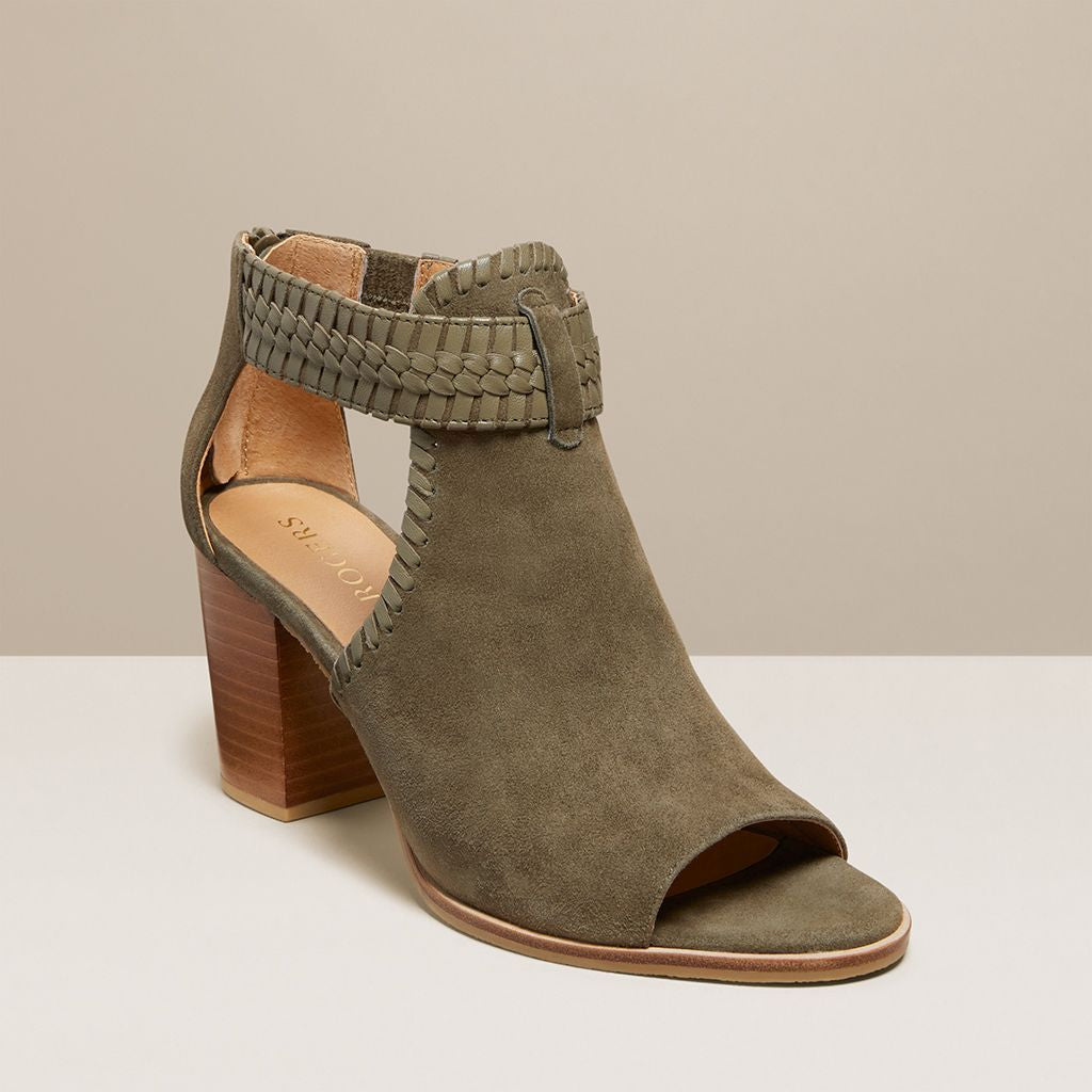 Tinsley Suede Open Toe Bootie