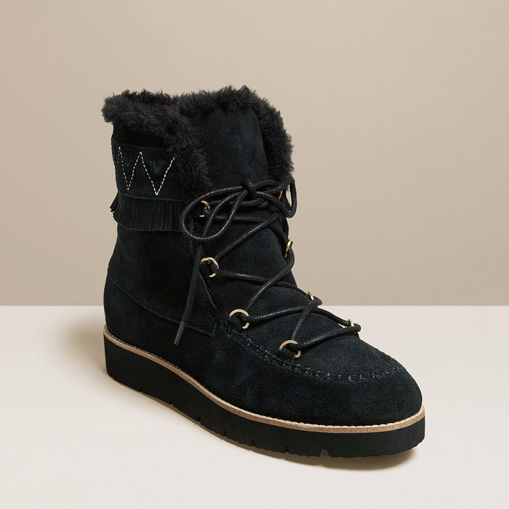 Vera Suede Lace Up Boot