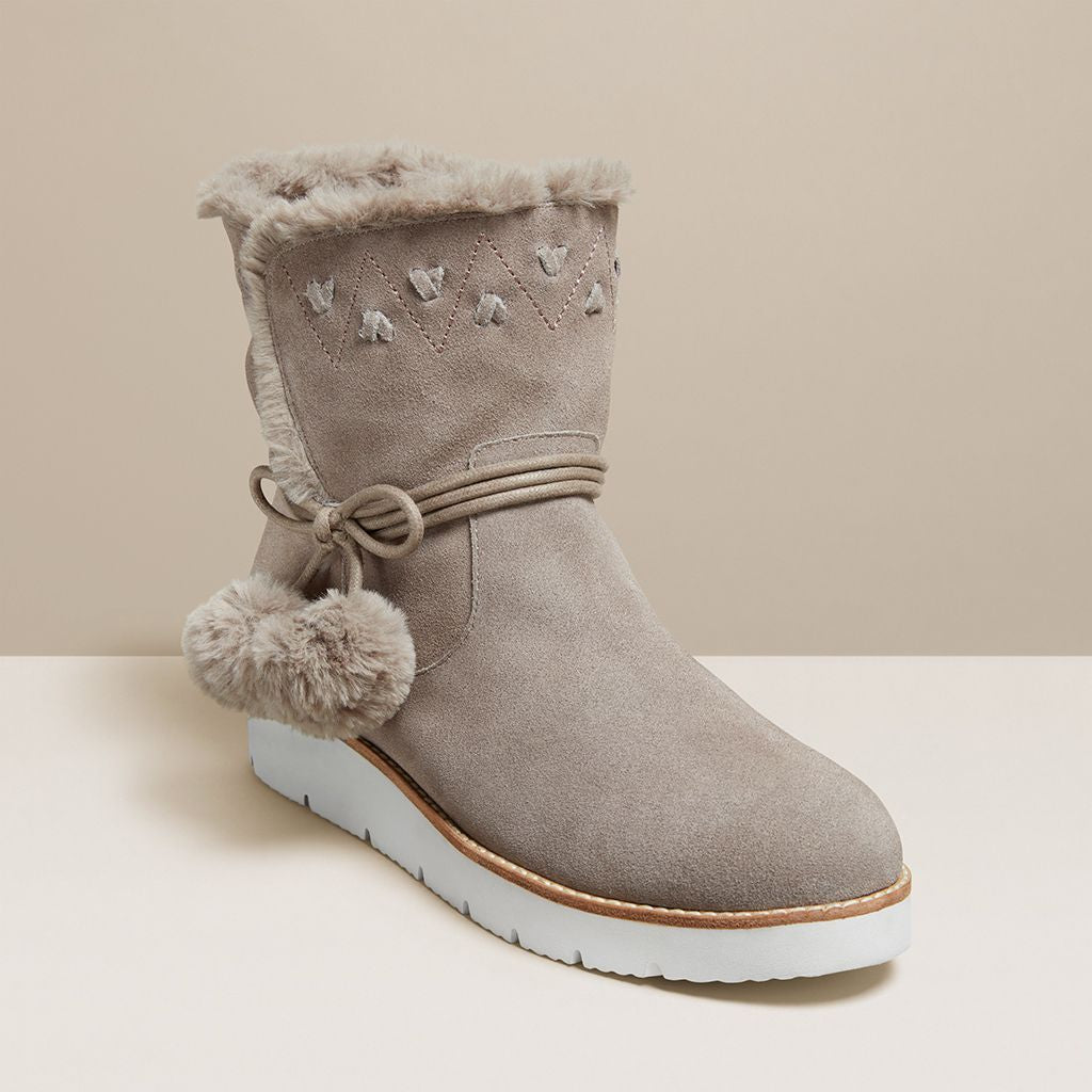 Vera Suede Pom Pom Boot-BOOTS-Jack Rogers USA