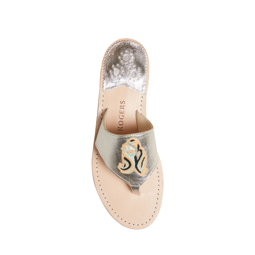 Virgo Embroidered Sandal