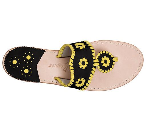 Custom Jacks Sandal Wide - Black / Yellow-Jack Rogers USA