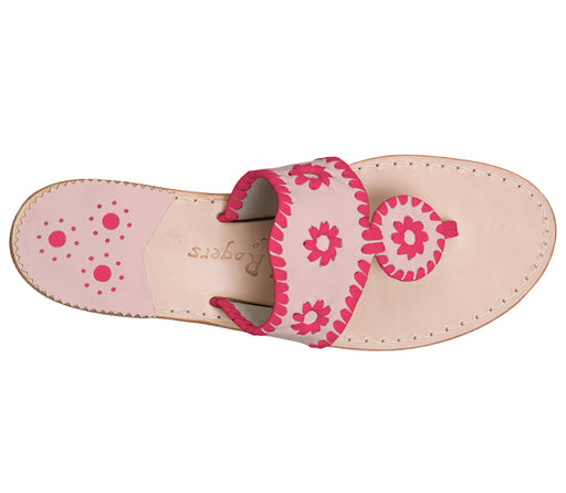 Custom Jacks Sandal Medium - Blush / Bright Pink