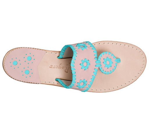 Custom Jacks Sandal Wide - Blush / Caribbean Blue