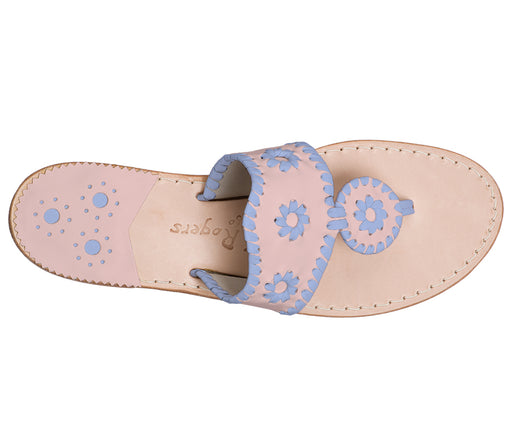 Custom Jacks Sandal Medium - Blush / Light Blue-Jack Rogers USA