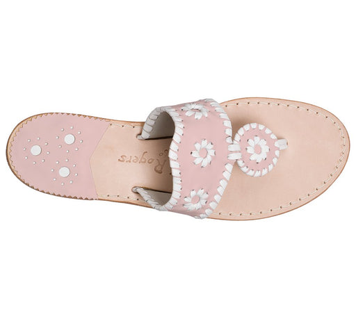 Custom Jacks Sandal Wide - Blush / White-Jack Rogers USA