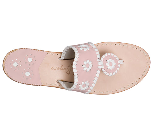 Custom Jacks Sandal Medium - Blush / White-Jack Rogers USA