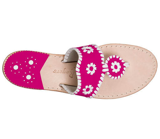 Custom Jacks Sandal Wide - Bright Pink / White