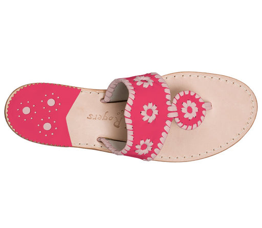 Custom Jacks Sandal Wide - Bright Pink / Blush-Jack Rogers USA