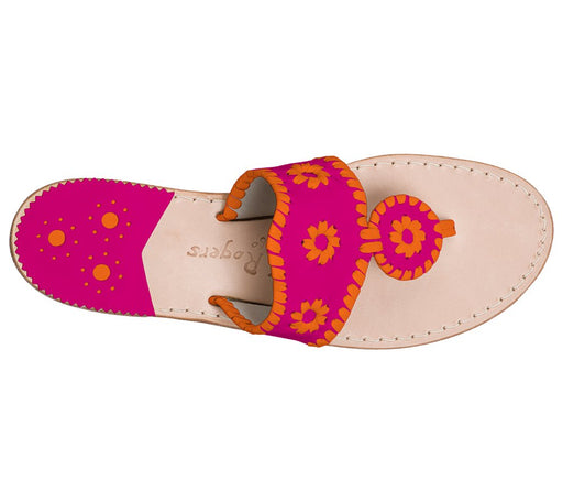 Custom Jacks Sandal Wide - Bright Pink / Dark Orange