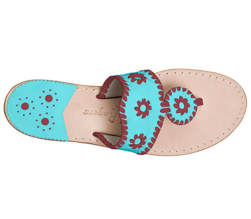 Custom Jacks Sandal Wide - Caribbean Blue / Garnet