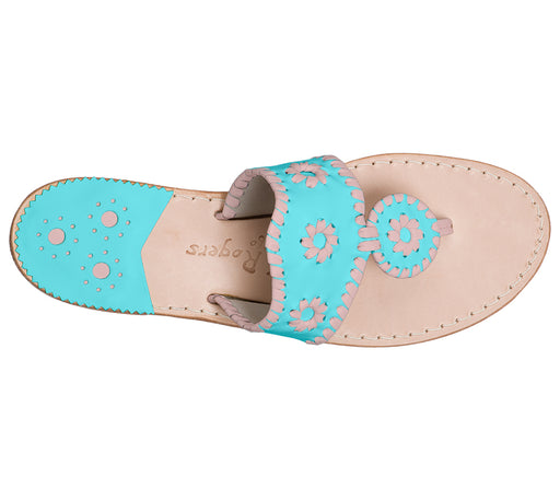 Custom Jacks Sandal Medium - Caribbean Blue / Blush