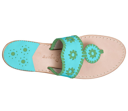 Custom Jacks Sandal Wide - Caribbean Blue / Green