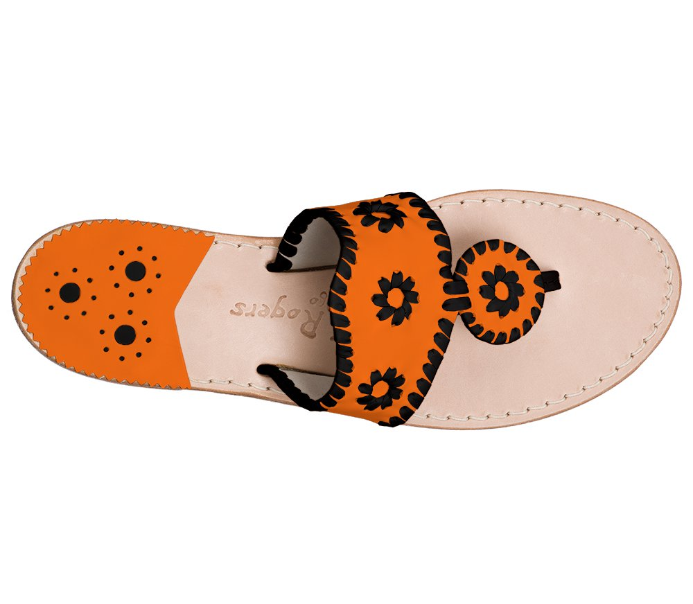 Custom Jacks Sandal Wide - Dark Orange / Black