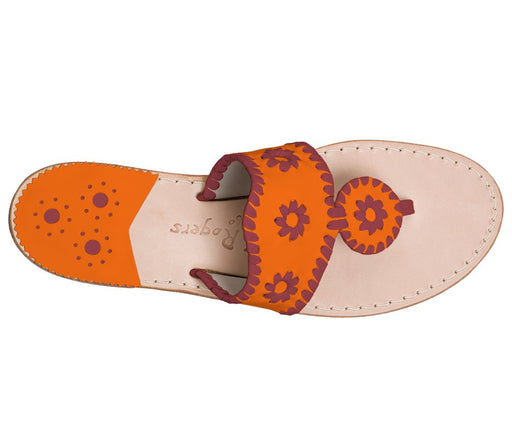Custom Jacks Sandal Wide - Dark Orange / Garnet