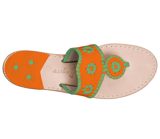 Custom Jacks Sandal Medium - Dark Orange / Green