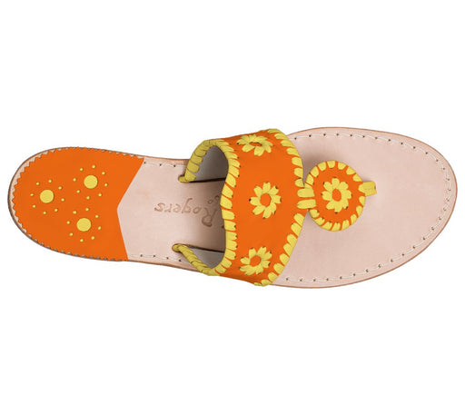 Custom Jacks Sandal Wide - Dark Orange / Yellow