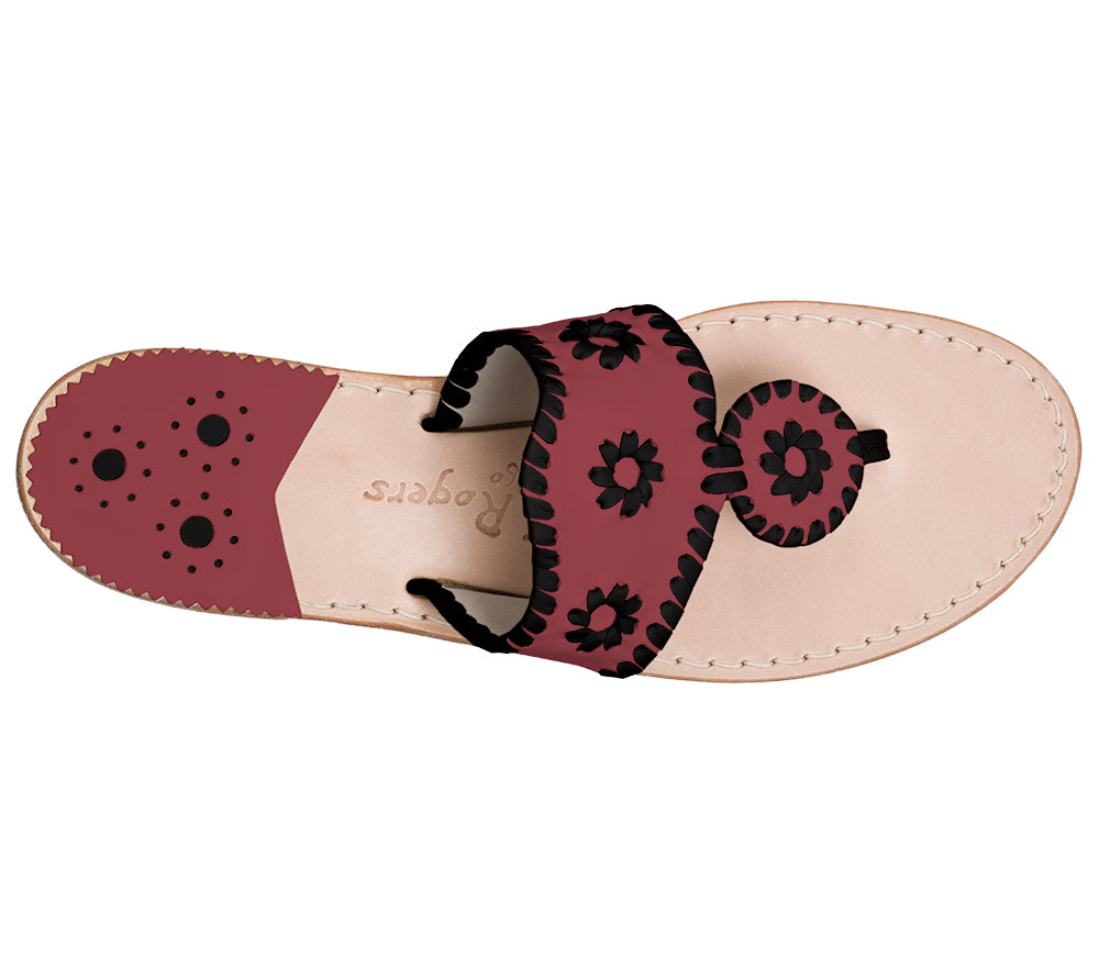 Custom Jacks Sandal Medium - Garnet / Black