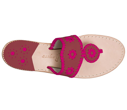 Custom Jacks Sandal Wide - Garnet / Bright Pink