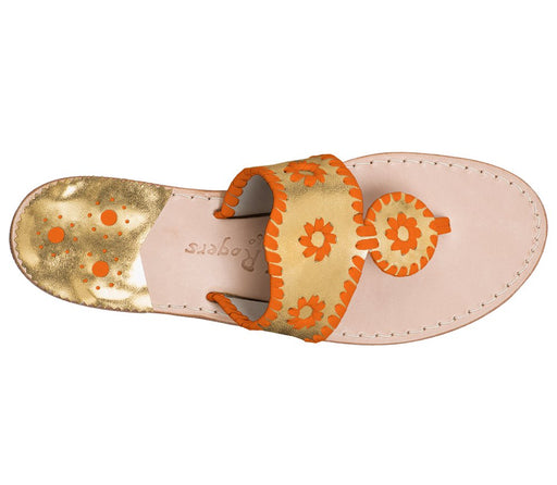 Custom Jacks Sandal Wide - Gold / Dark Orange