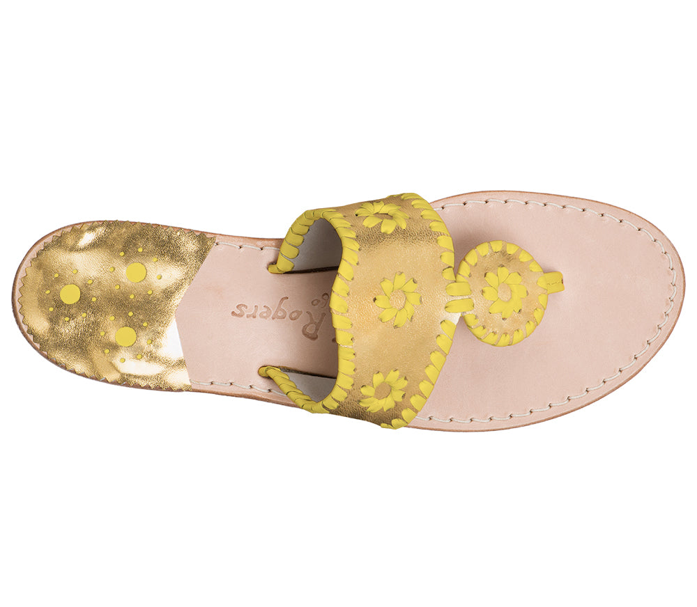 Custom Jacks Sandal Medium - Gold / Yellow