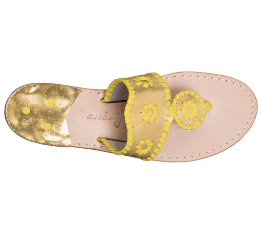 Custom Jacks Sandal Medium - Gold / Yellow-Jack Rogers USA
