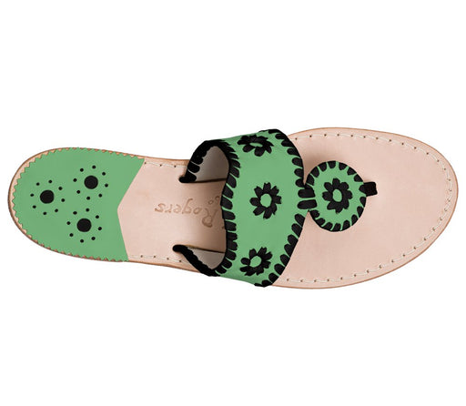 Custom Jacks Sandal Wide - Green / Black-Jack Rogers USA