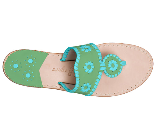 Custom Jacks Sandal Medium - Green / Caribbean Blue