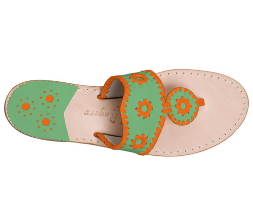 Custom Jacks Sandal Medium - Green / Dark Orange