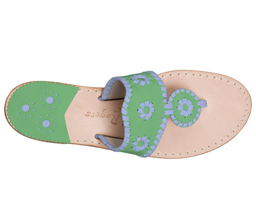 Custom Jacks Sandal Wide - Green / Light Blue
