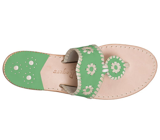 Custom Jacks Sandal Wide - Green / Platinum-Jack Rogers USA