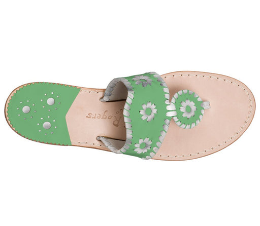 Custom Jacks Sandal Wide - Green / Silver-Jack Rogers USA