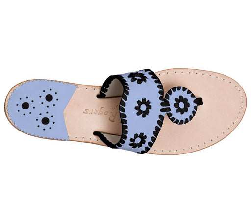 Custom Jacks Sandal Wide - Light Blue / Black-Jack Rogers USA