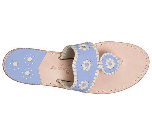 Custom Jacks Sandal Wide - Light Blue / Bone-Jack Rogers USA