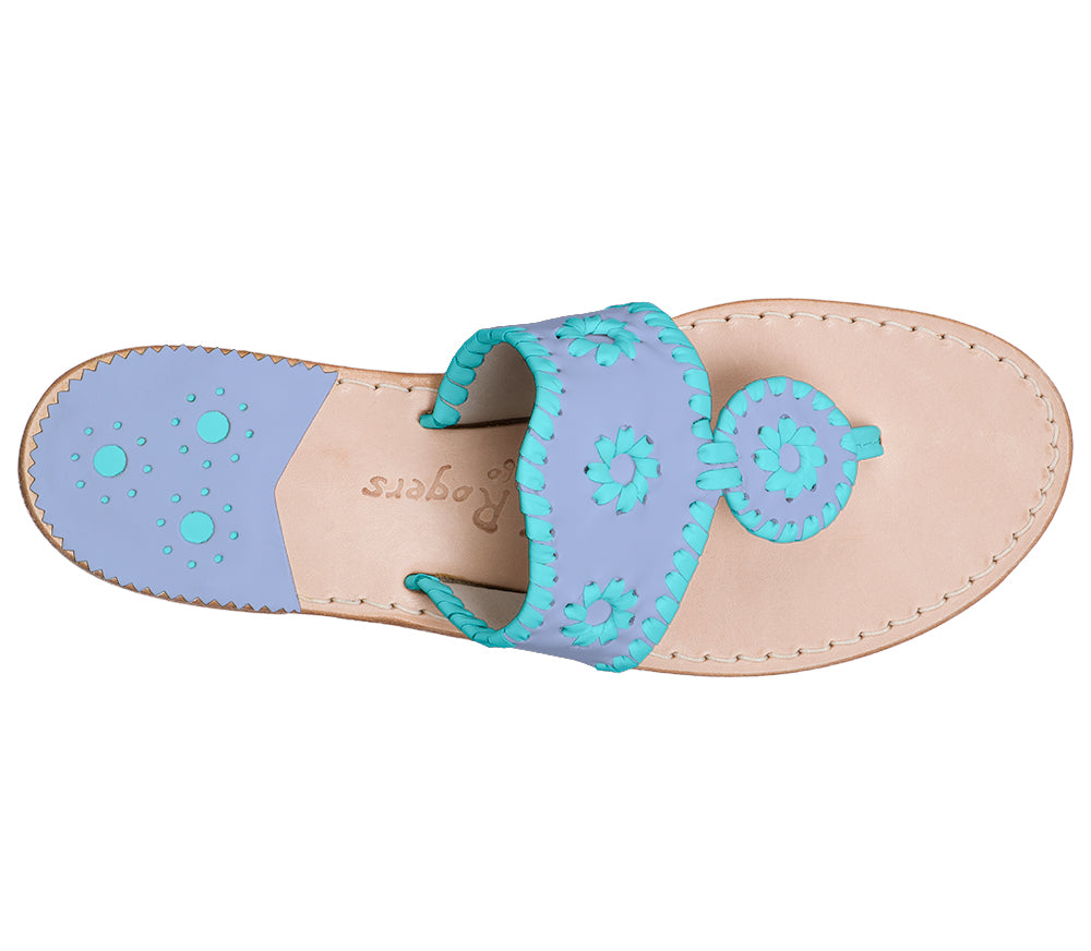 Custom Jacks Sandal Medium - Light Blue / Caribbean Blue-Jack Rogers USA