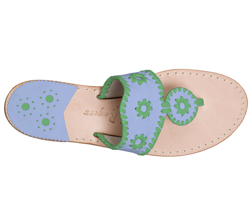 Custom Jacks Sandal Medium - Light Blue / Green-Jack Rogers USA