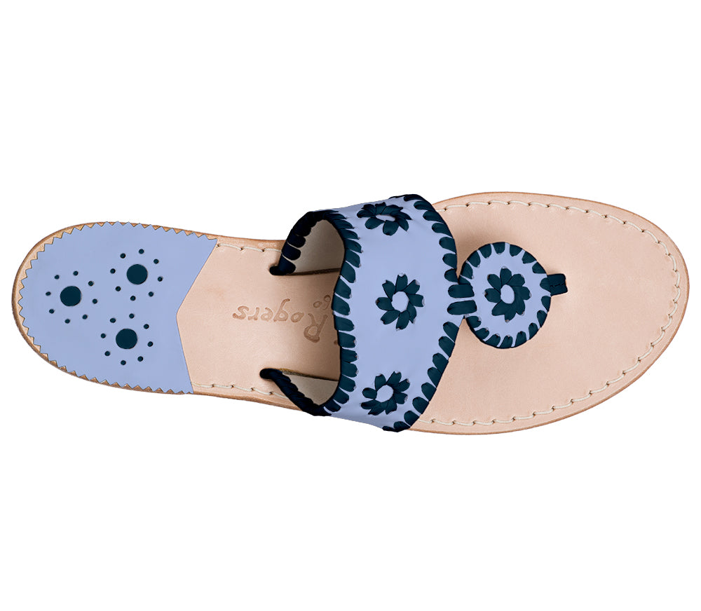 Custom Jacks Sandal Medium - Light Blue / Midnight-Jack Rogers USA