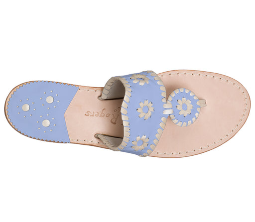 Custom Jacks Sandal Medium - Light Blue / Platinum-Jack Rogers USA