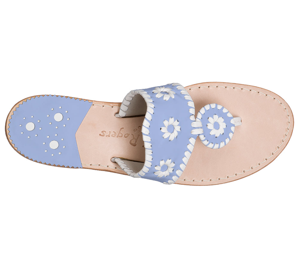 Custom Jacks Sandal Medium - Light Blue / White