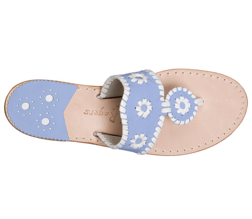 Custom Jacks Sandal Medium - Light Blue / White-Jack Rogers USA