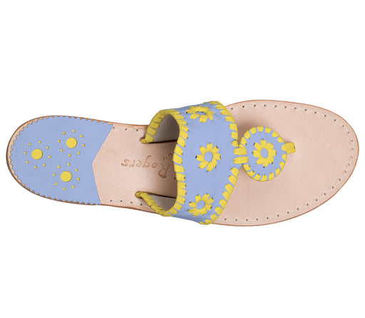 Custom Jacks Sandal Medium - Light Blue / Yellow-Jack Rogers USA