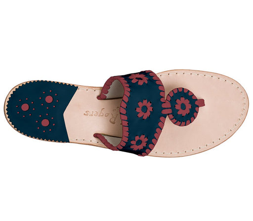 Custom Jacks Sandal Wide - Midnight / Garnet-Jack Rogers USA