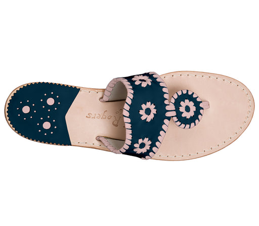Custom Jacks Sandal Medium - Midnight / Blush-Jack Rogers USA