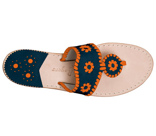 Custom Jacks Sandal Wide - Midnight / Dark Orange