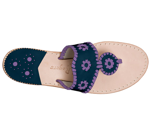 Custom Jacks Sandal Medium - Midnight / Purple
